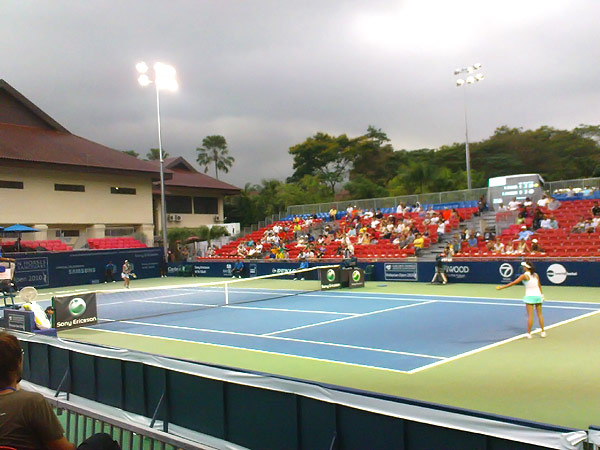Night time at WTA Malaysia