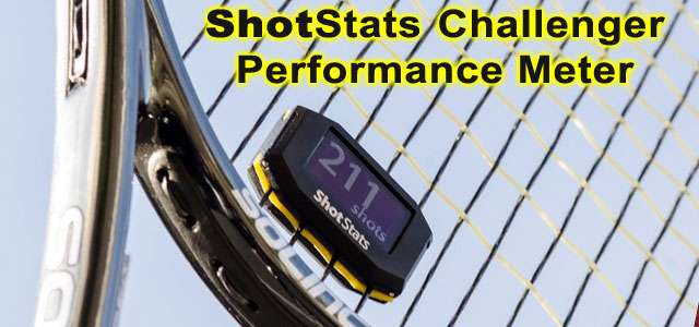 Shot Stats Challenger performance meter tracks your tennis racket